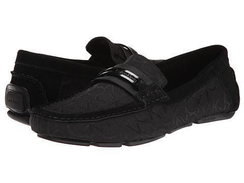 Mens Shoes Calvin Klein Marcell Black Perf Suede