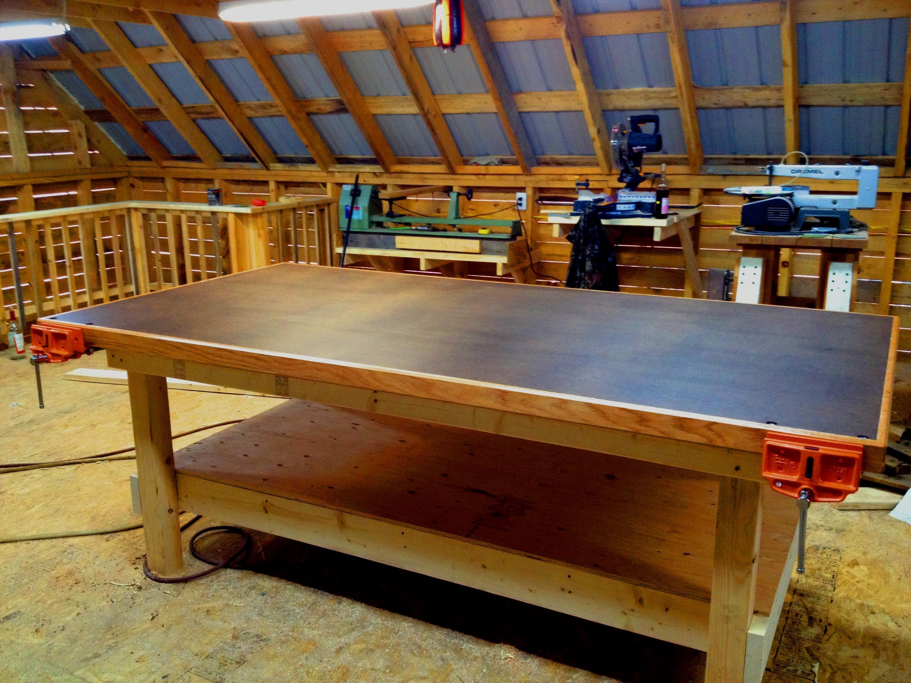 john builds himself a much needed shop table for his