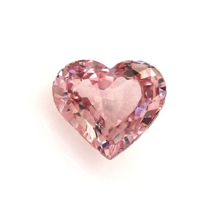 Padparadscha Sapphire - Heart 3.07 Ct. Item ID: PA3410 #sapphireearrings #sapphireweddingring #sapphire #gems #gemstonejewelry #jewelrystones #padparadscha