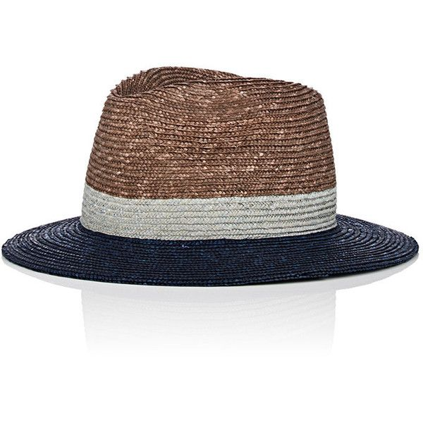 f6fd4127c17d2 Paul Smith Men s Tricolor Straw Trilby Hat ( 109) ❤ liked on Polyvore  featuring men s