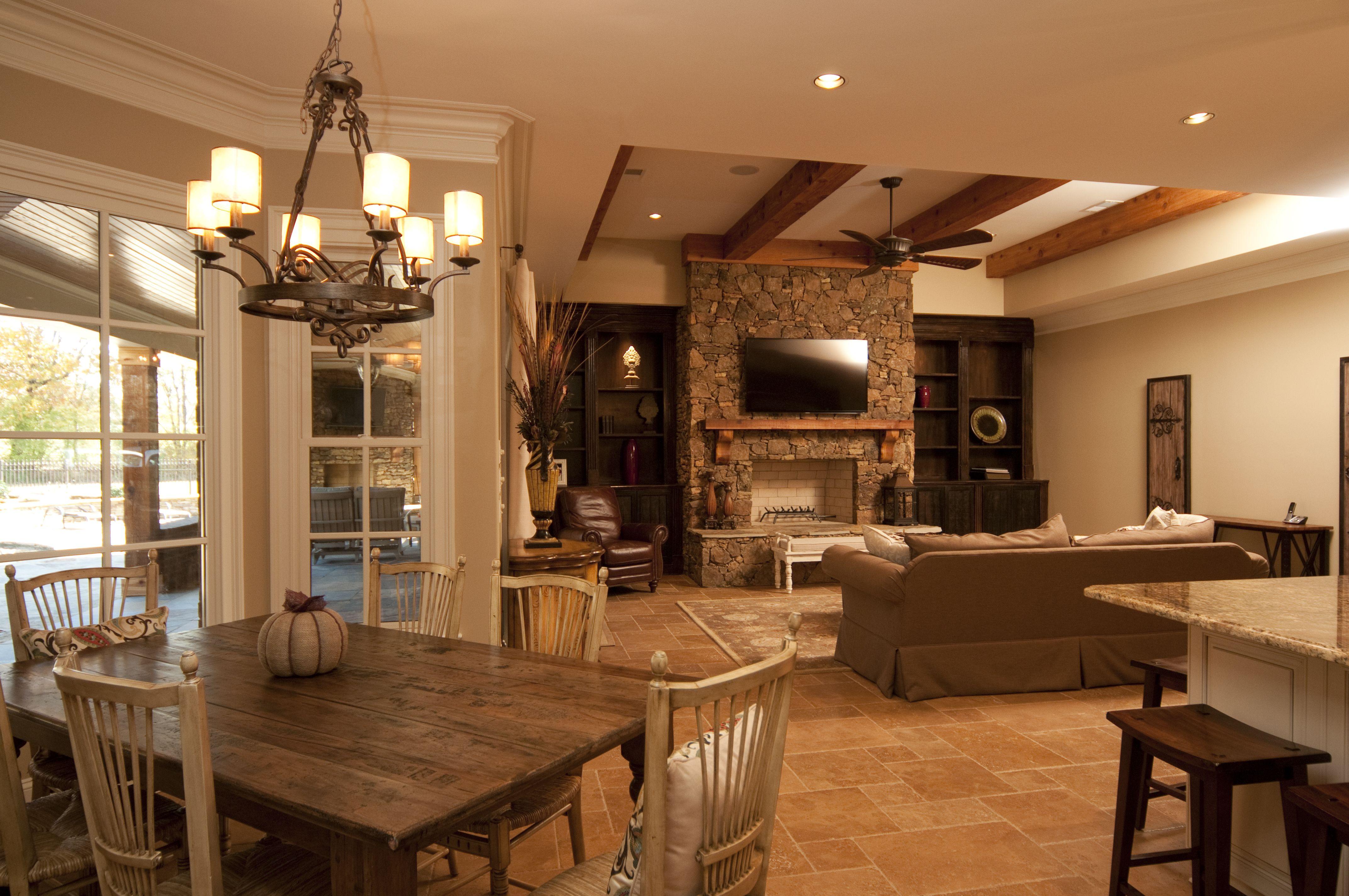 Hearth Room And Breakfast Room Custom Built Regency Home Hearth