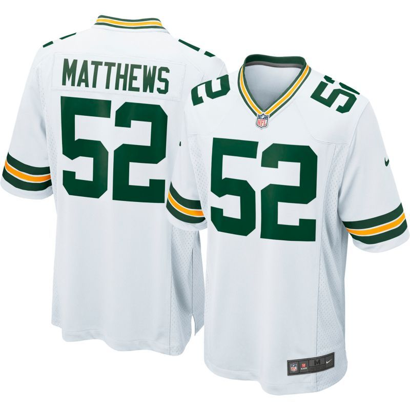 quality design 4081a 5e6ad Nike Men's Away Game Jersey Green Bay Packers Clay Matthews ...