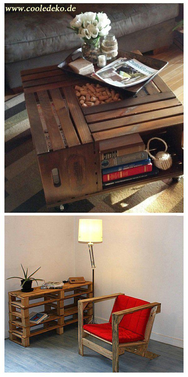 Schön Möbel Aus Europaletten Schreibtisch Sessel