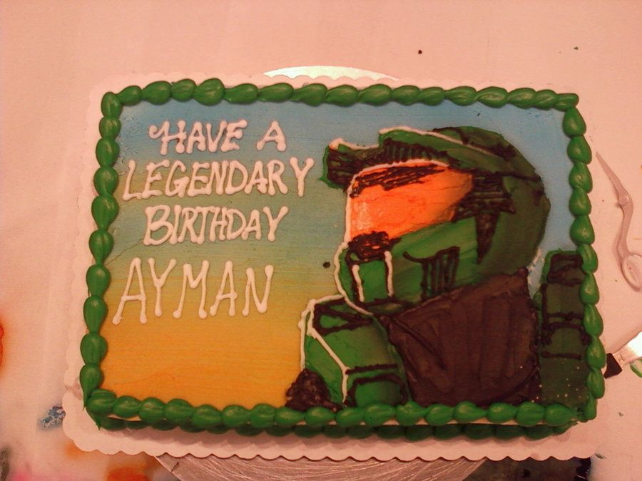halo cake Bubbas birthday Pinterest