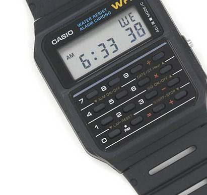 I had one of these when I was a kid. Casio Classic Calculator and Calendar Watch - $19