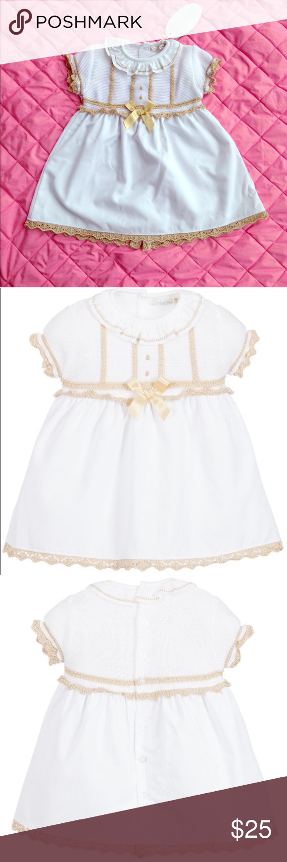 Dr Kid White Baby Girl Dress 12 Month Old New Baby Dress Baby Girl White Dress Baby Girl Dress [ 1740 x 580 Pixel ]