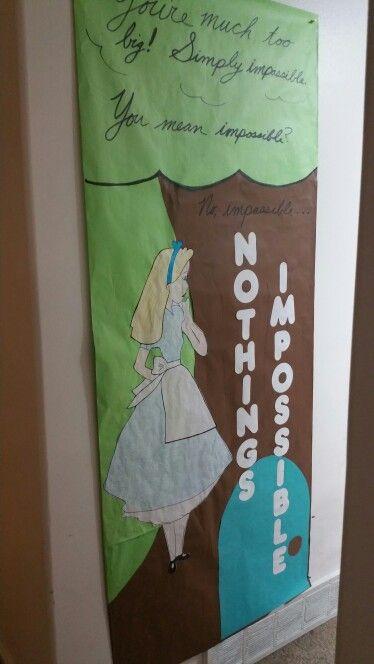 Alice In Wonderland Classroom Decoration Ideas ~ Alice in wonderland door decoration decorations