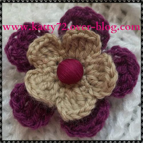 Tuto Fleur Au Crochet Handmade Seme Pinterest Crochet Crochet