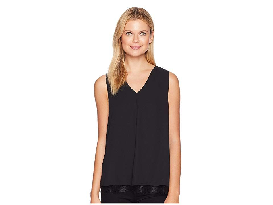 0d380c801b240 B Collection by Bobeau Grace Lace Layer Tank Top (Black) Women s  Sleeveless. For