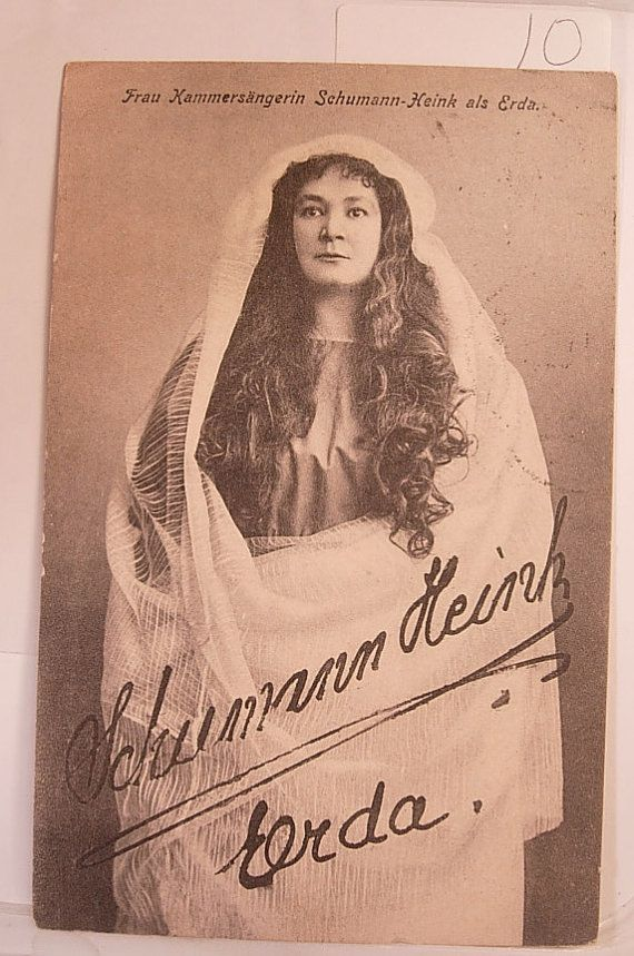 Ethnic people postcard Signed Schumann Heink by NeatstuffAntiques, $10.00