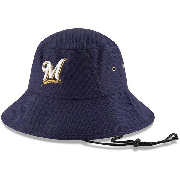 wholesale dealer 4e854 f49c3 Men s Milwaukee Brewers New Era Navy Clubhouse Bucket Hat, Your Price    29.99