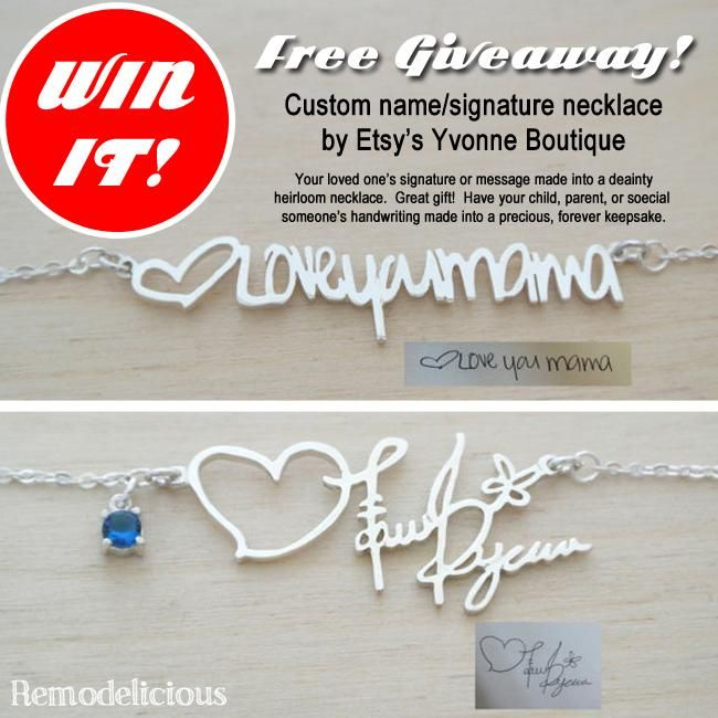 Free Giveaway Custom Signature Necklace On A Dainty Chain Signature Necklace Custom Signature Free Giveaway