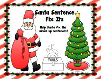 If You Are Looking For A Fun Christmas Themed Packet To Provide Your Students With Extra Practice For Sentence Str Sentences Good Sentences Sentence Structure