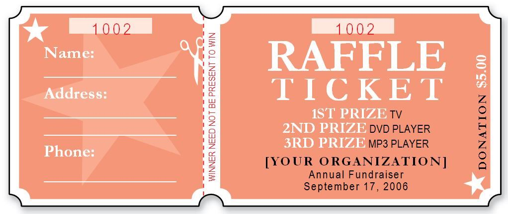 Sample Raffle Ticket Templates  Photos Frames