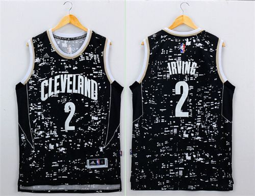 1d8c42af7472 Cavaliers  2 Kyrie Irving Black City Light Stitched NBA Jersey