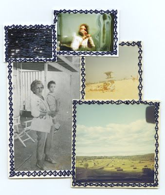 embroidered photo assemblage by Randi Malkin Steinberger Artful - copy what is blueprint paper called