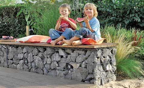 gabionen bank drahtkorb gabionen und selbst bauen. Black Bedroom Furniture Sets. Home Design Ideas