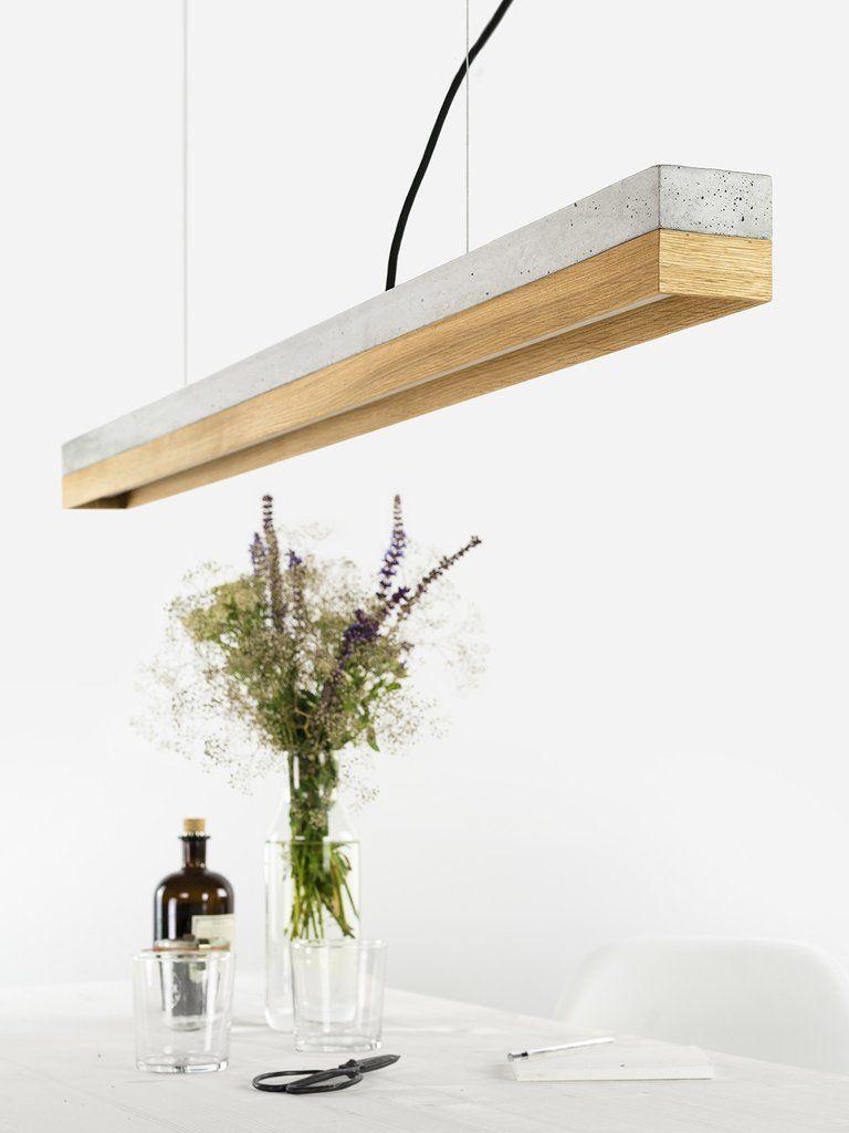 C1oak Pendelleuchte Eichenholz Lampe Beton Lampe Kupfer