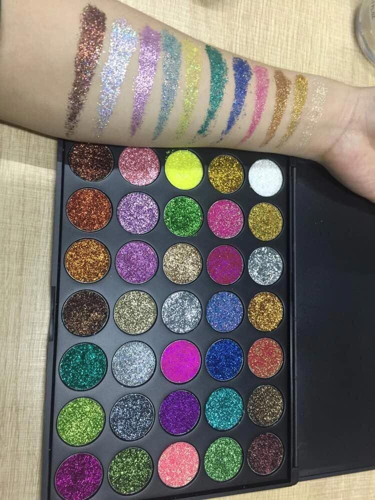 Viva las vegas glitter eyeshadow palette Glitter