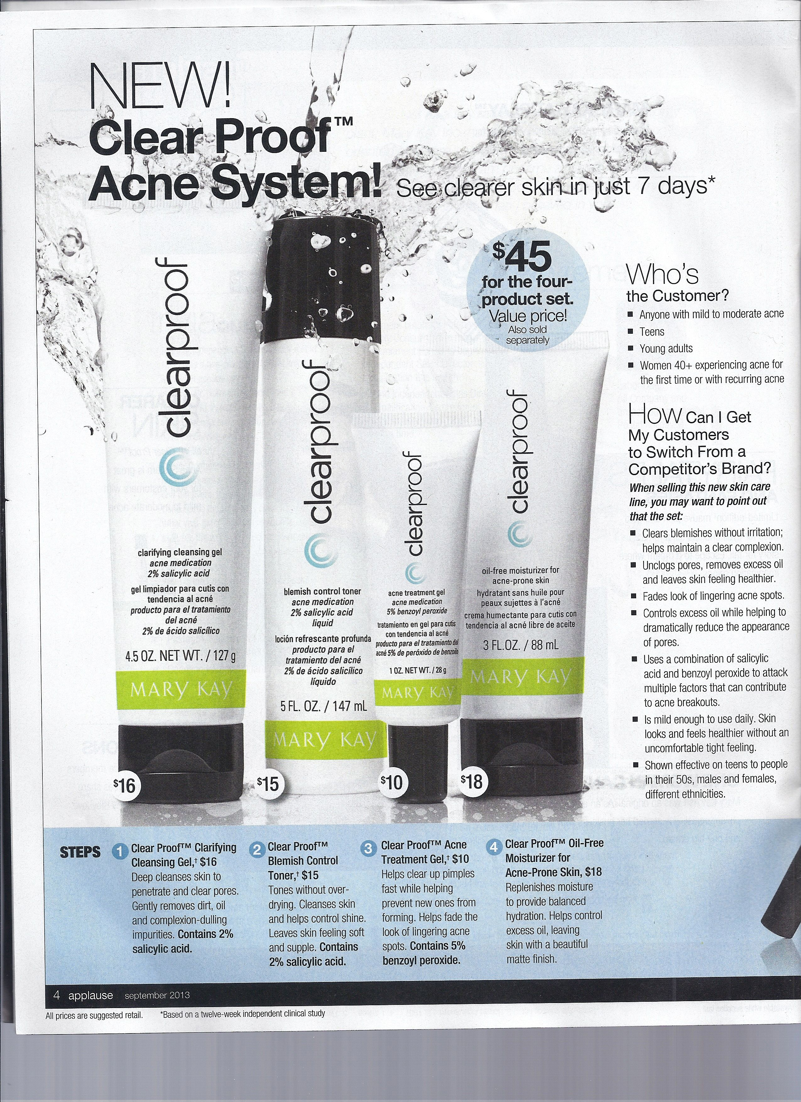 NEW!! Mary Kay's ClearProof Acne System. See clearer skin