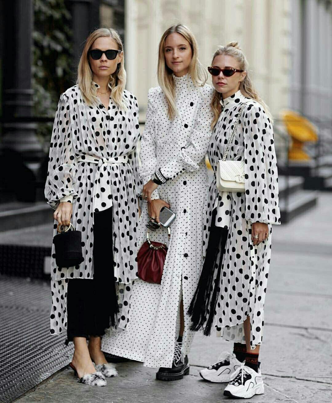Resultado de imagem para polka dot street style