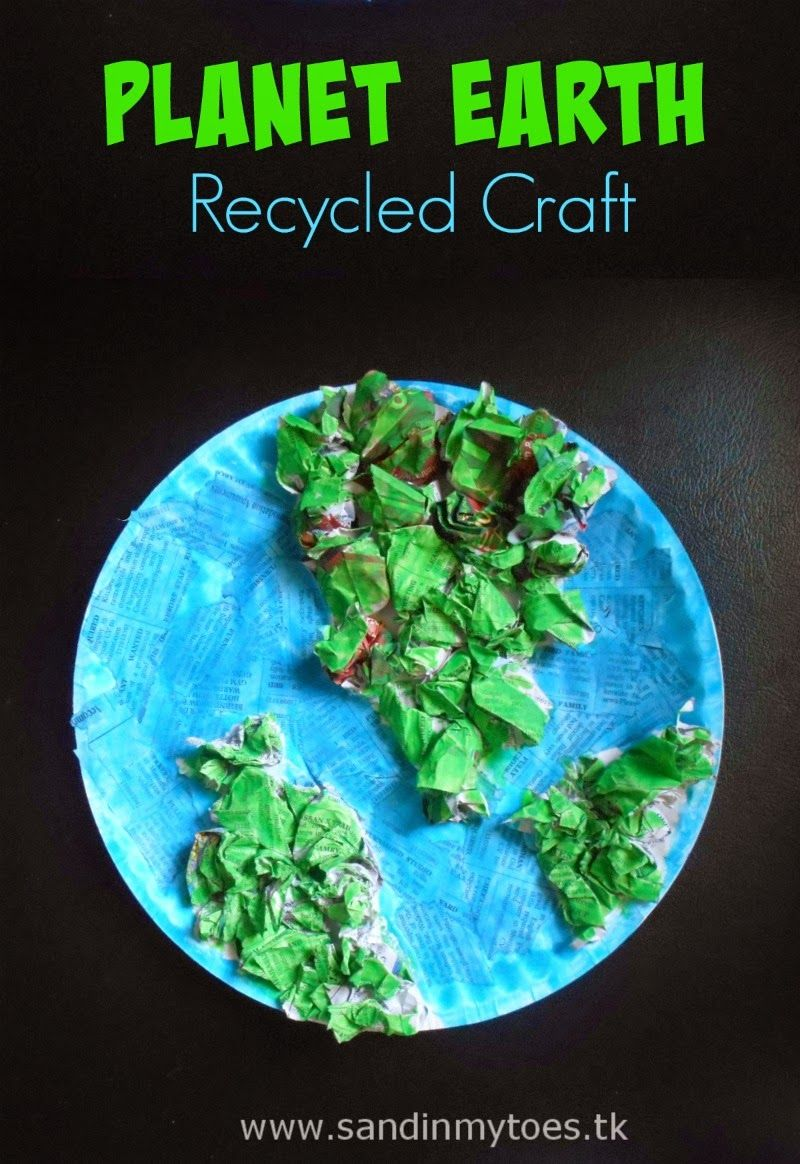 Busy Hands: Earth Recycled Craft #recycledcrafts