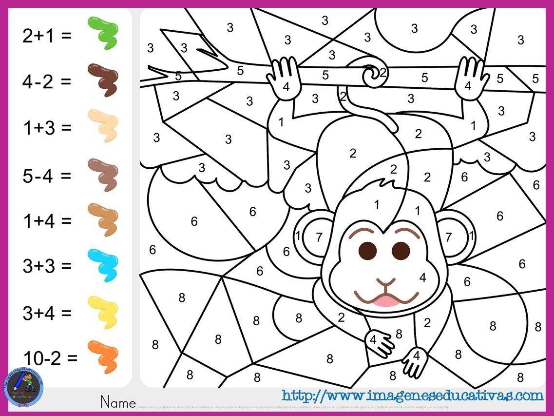 Colorea Por Por Sumas Y Números Matematicas Para Colorear