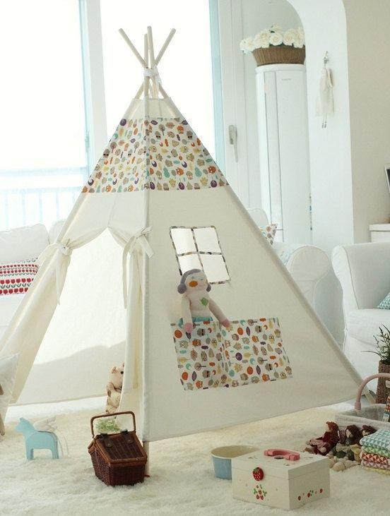 Children teepee tent baby play tent par goodhapy sur Etsy $100.00 & Children teepee tent baby play tent par goodhapy sur Etsy $100.00 ...