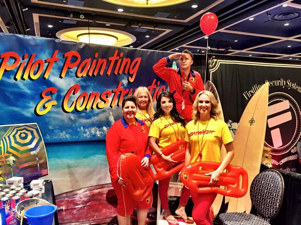 Baywatch Themed Tradeshow Booth Made in California