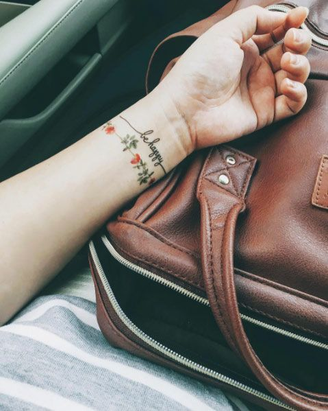 65 Adorable Wrist Tattoos All Women Should Consider Tattoos On