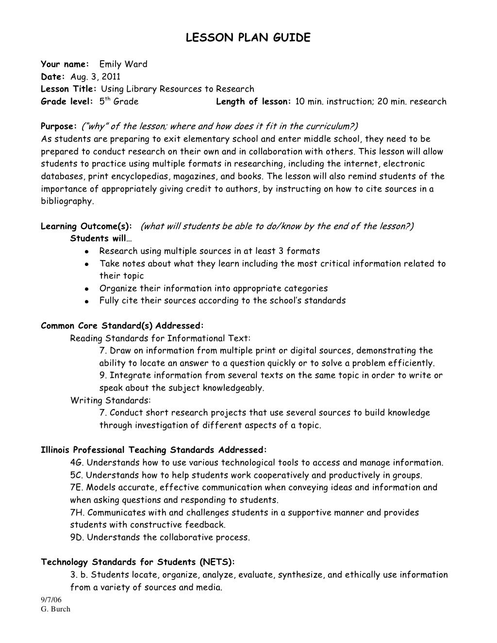 Research Project Lesson Plan Research Projects How To Plan Descriptive Writing
