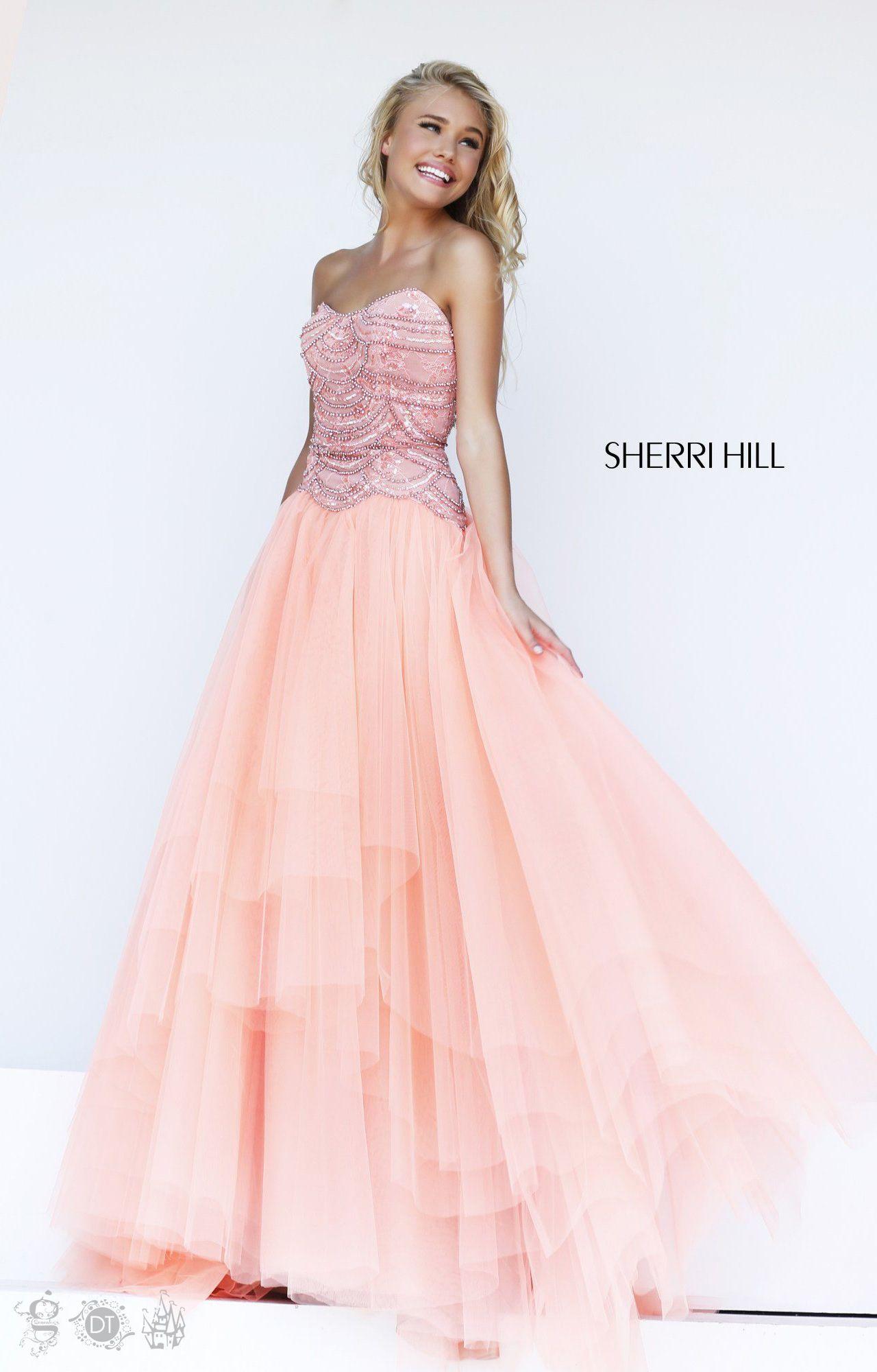 2014 Sherri Hill 11082 Peach Prom Dress | Fashion | Pinterest
