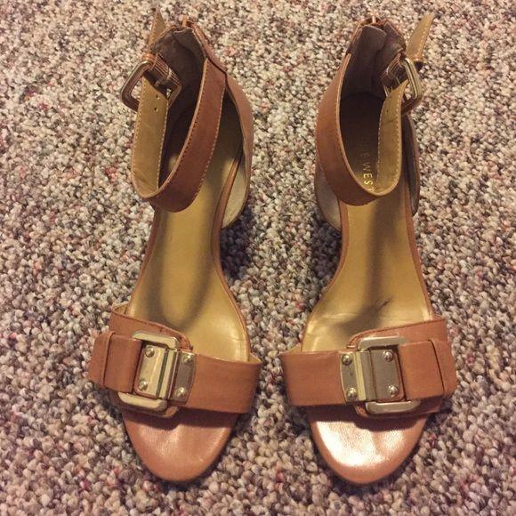 "Nine West sandals size 5.5 Excellent condition on worn a few times 2"" heel Nine West Shoes Sandals"