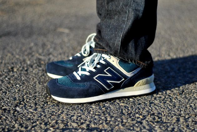 new balance 574 vintage Silver