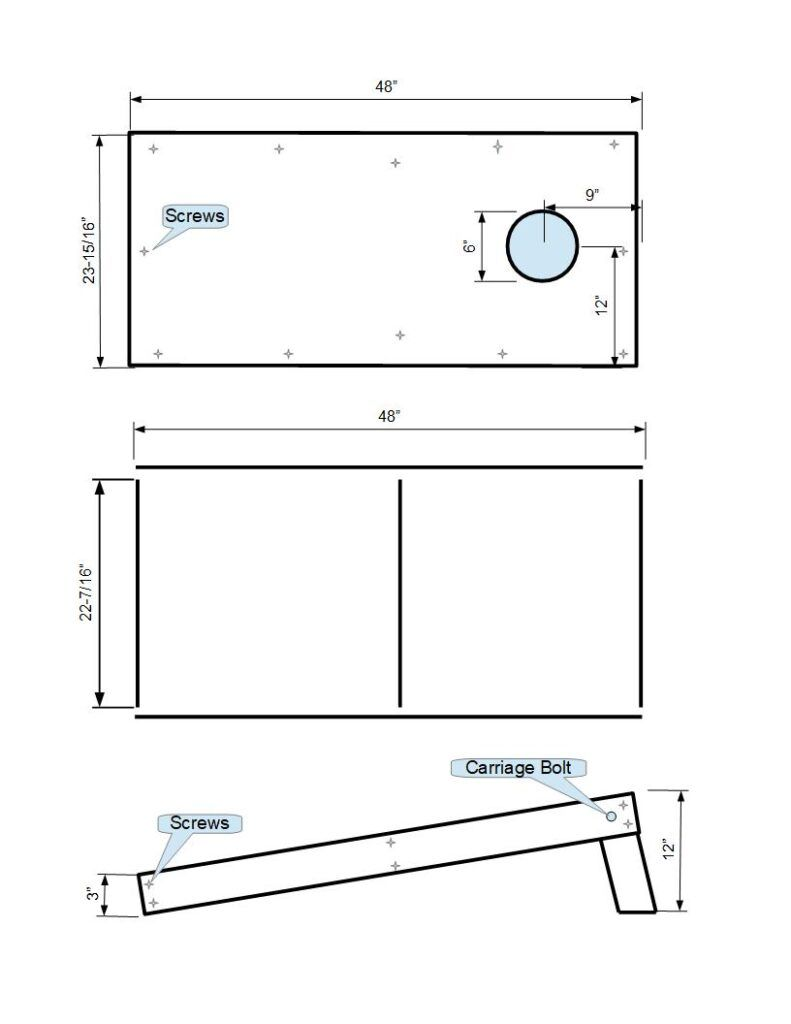 Free Cornhole Game Plans Bag Toss Boards