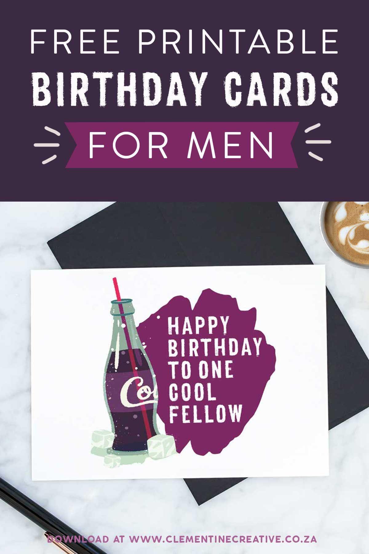 Printable Birthday Cards for Him {Premium} Free