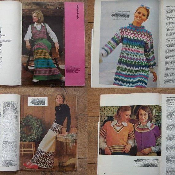 Vintage 60s 70s Knitting Patterns Mccalls Knit It Dresses Ponchos