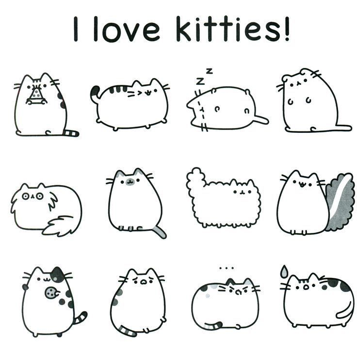 Pusheen Coloring Pages Free Page Cute Animals Color Print ...