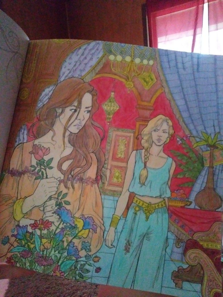 Feyre And Morrigan Court Of Dreams Coloring Book Art Coloring