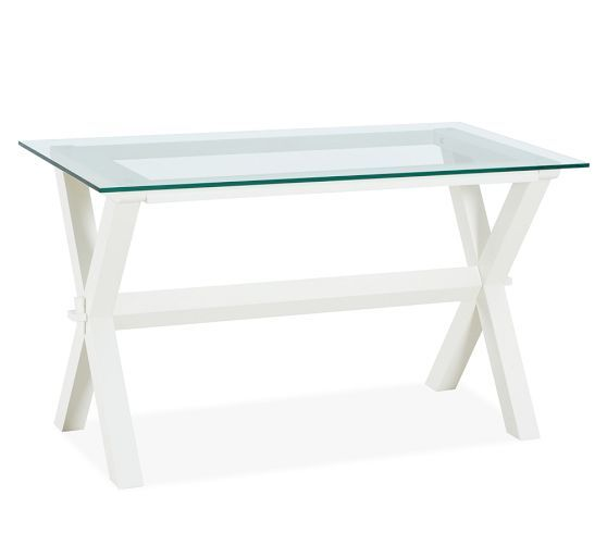 Ava Wood Desk Antique White Pottery Barn Finally Bought A Can T Wait For It To Arrive