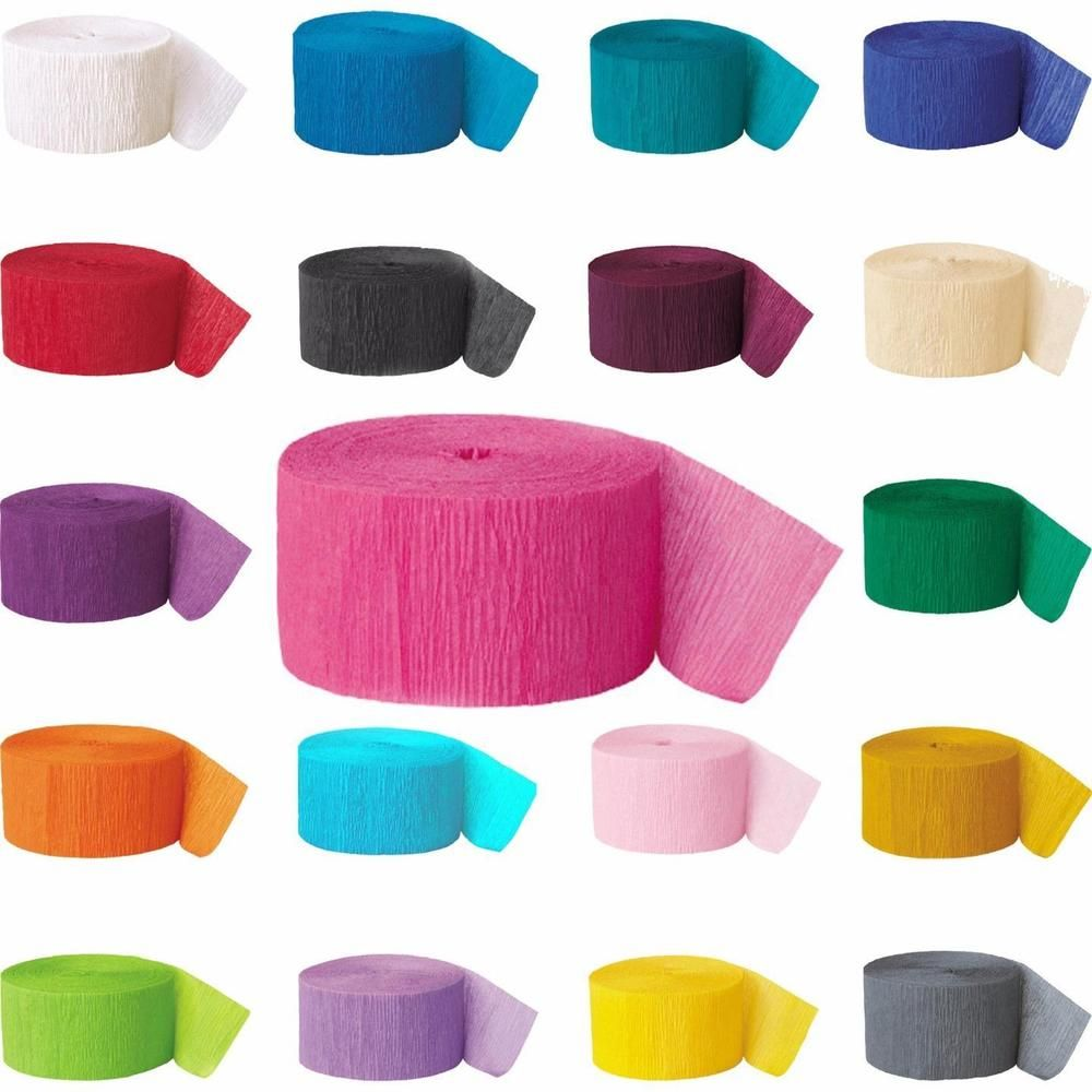 81ft Crepe Paper Streamer Roll Wedding Birthday Party Supplies Decoration
