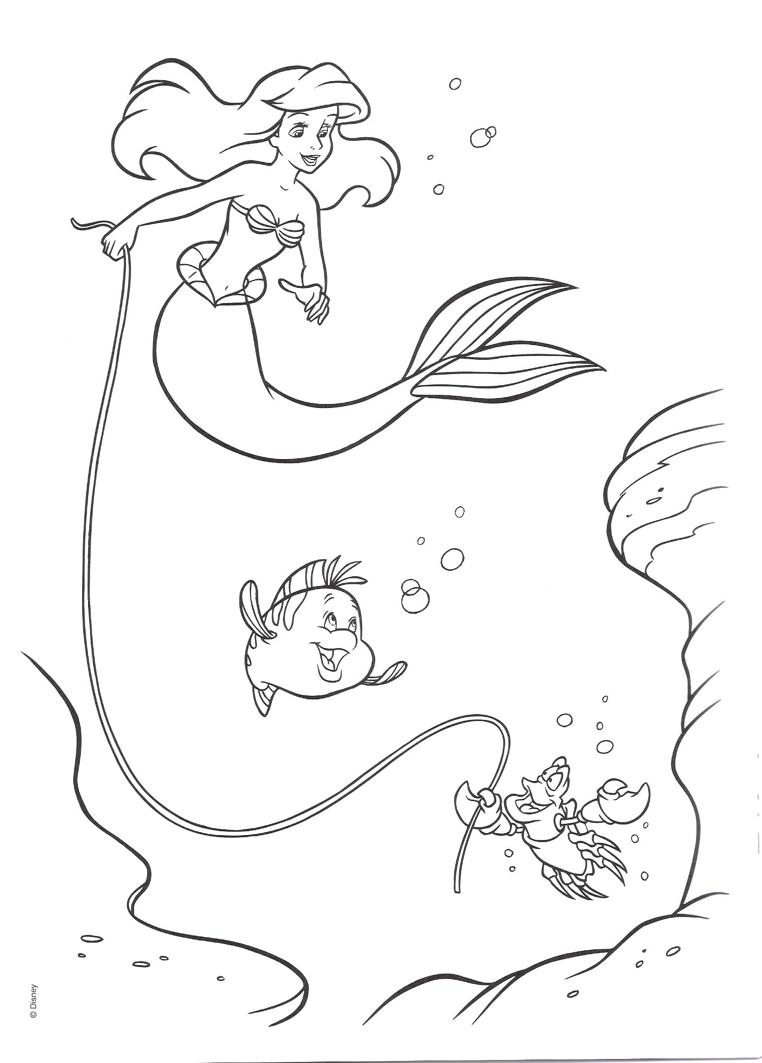 Ariel Coloring Pages Google Sogning Disney Personaggi