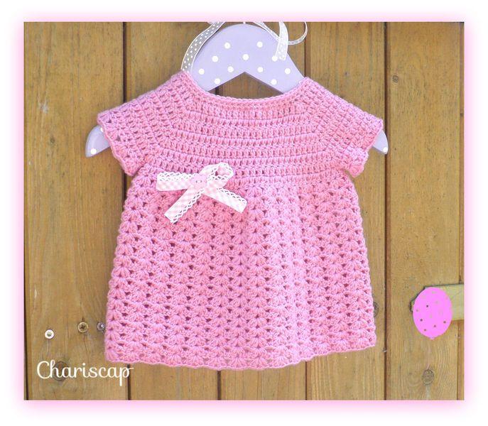 Babykleidchen in Rosa von Chariscap auf DaWanda.com | Kreative ...