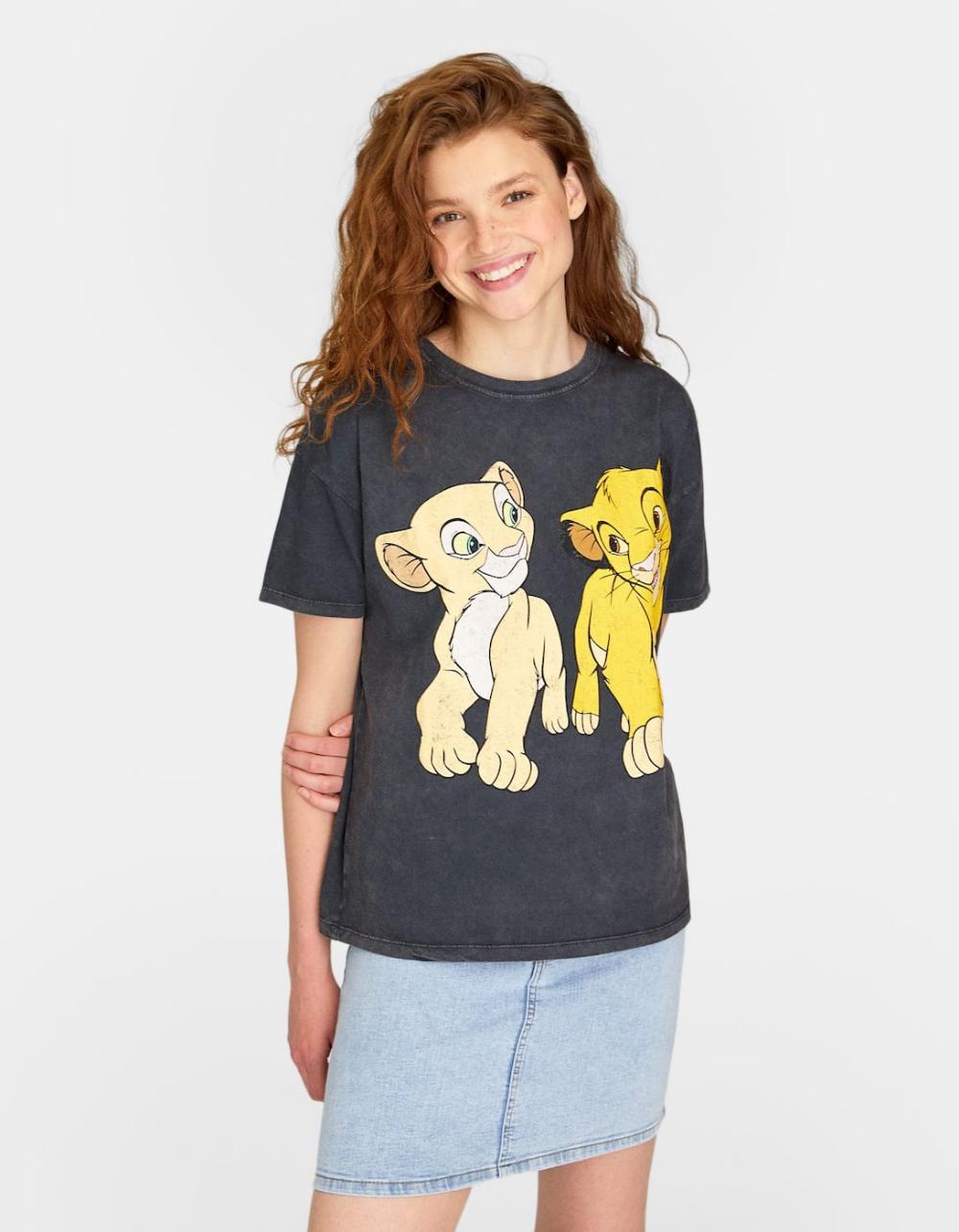 Camiseta Disney Rey Leon Null De Mujer Stradivarius T Shirts For Women Women Womens Shirts [ 1284 x 1000 Pixel ]