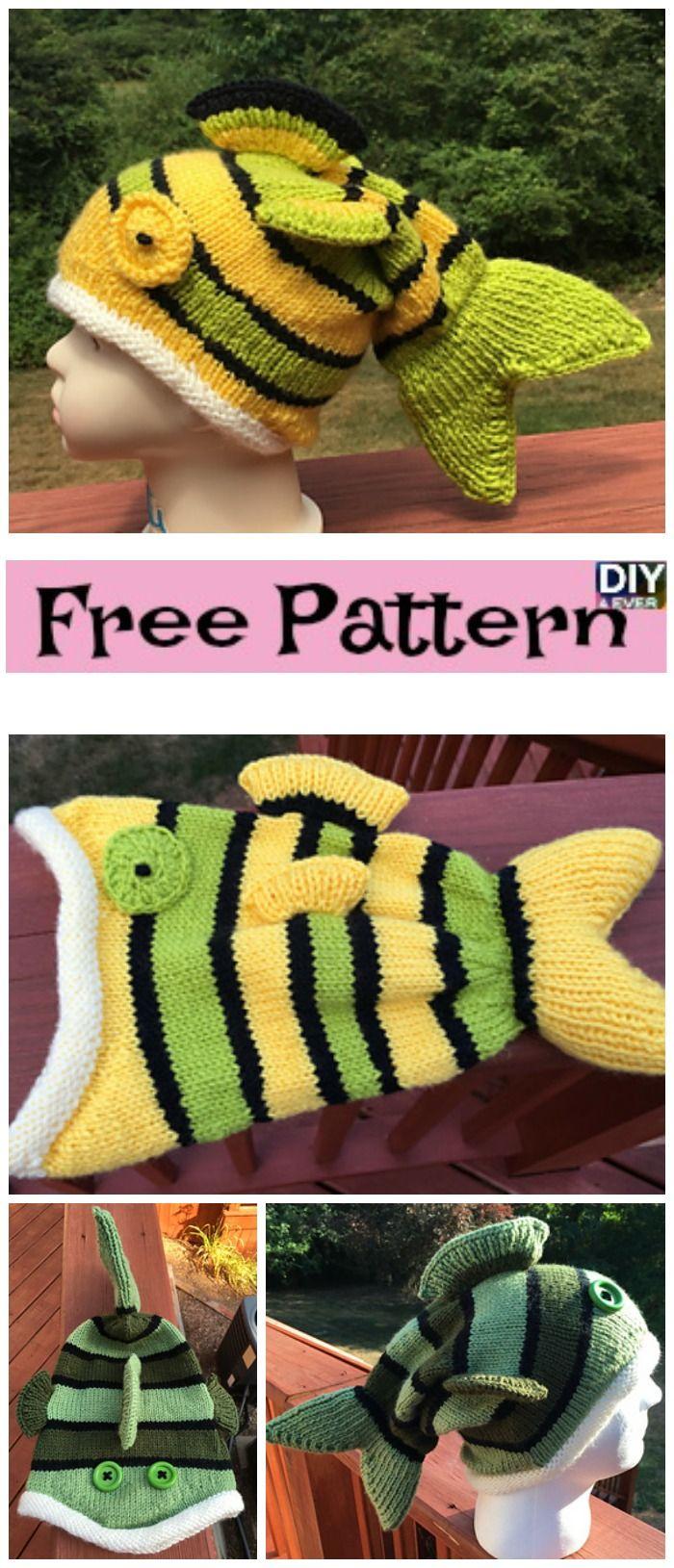 Cute Knitted Fish Hat - Free Pattern | Free pattern, Fish and Patterns