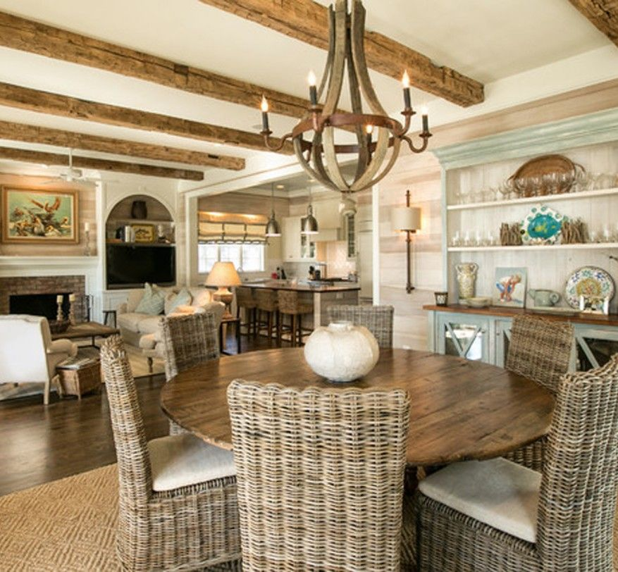 Casual Dining Room Decor Ideas: 21 Cool Beach Style Dining Design Ideas