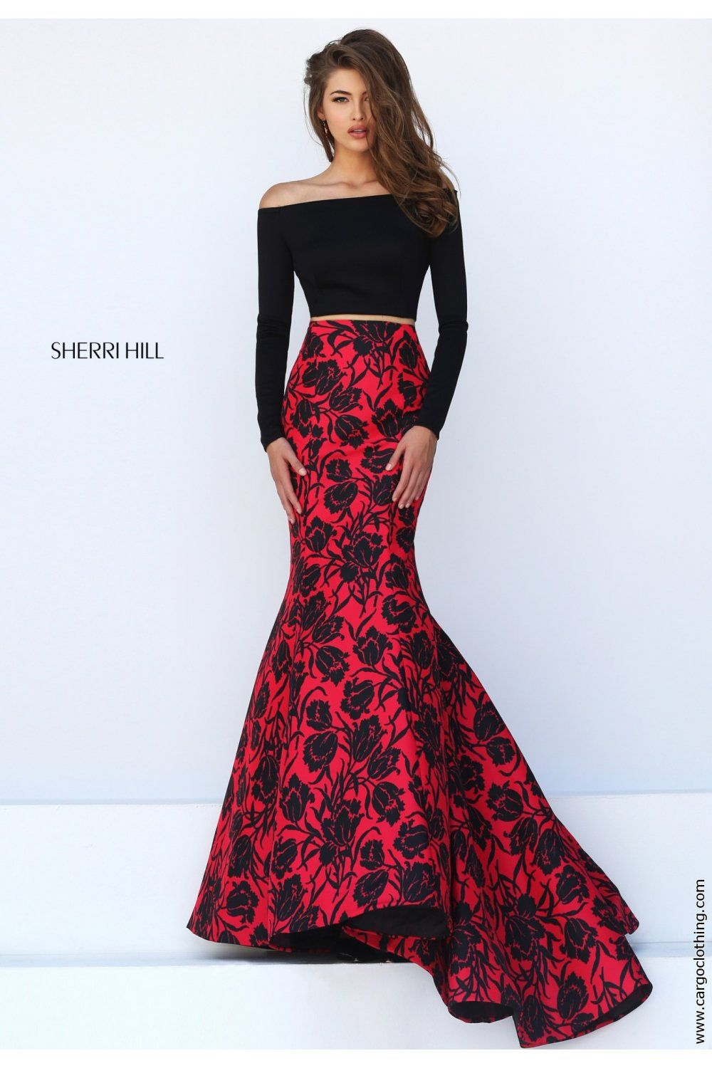 Image result for two piece sherri hill prom dress Prom Pinterest