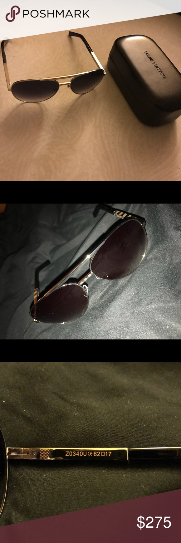 15f9a2aac0cc4 Louis Vuitton Sunglasses Authentic Z0340U Attitude Pilote Sunglasses. Mint  condition. No scratches or any