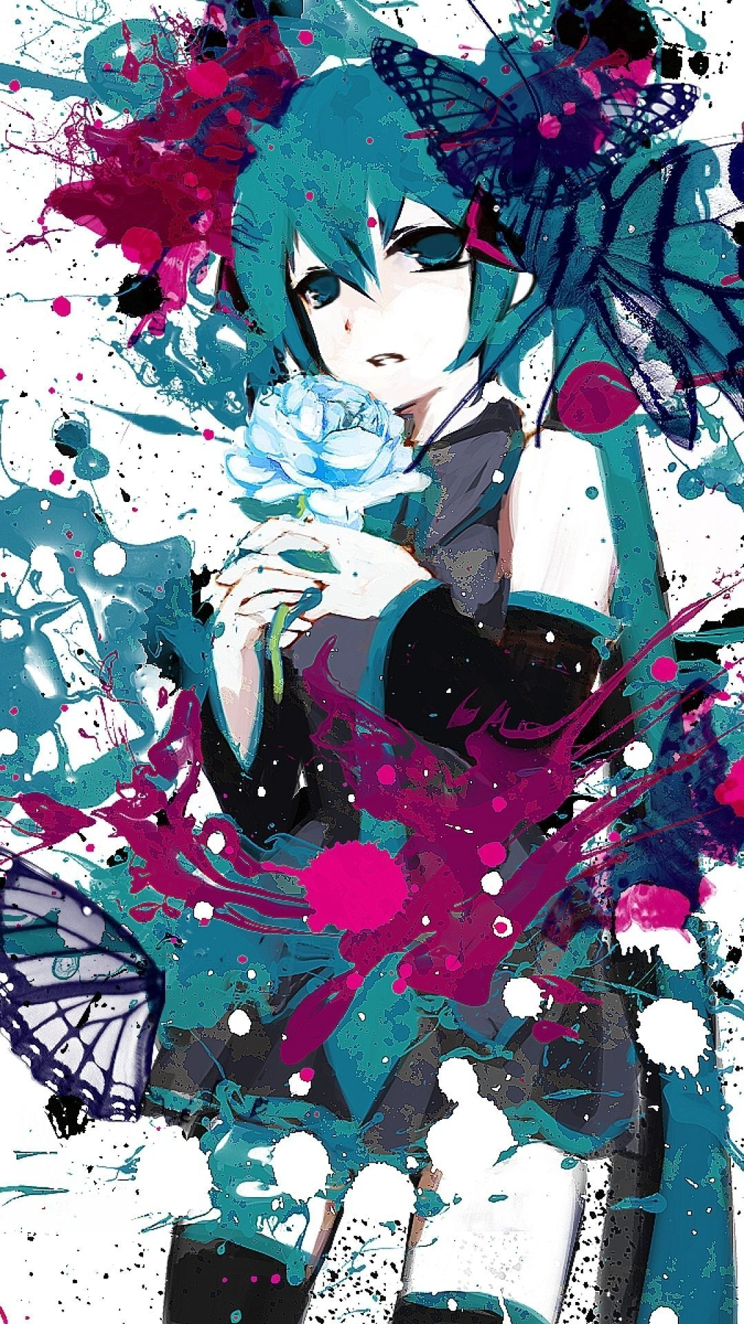 Anime Phone Wallpapers Hd Oboi Fony Hacune Miku Oboi Dlya Telefona