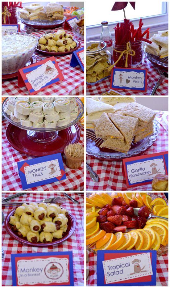 Monkey Themed Food Ideas Baby Shower Xavey Birthday Pinterest